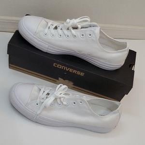 Men's White Monochrome Low Top Converse